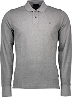GANT Men's Sweatshirt Grey Grau (DARK GREY MELANGE 92) Large