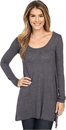 L/S Angled 2-Pocket Scoop Tunic