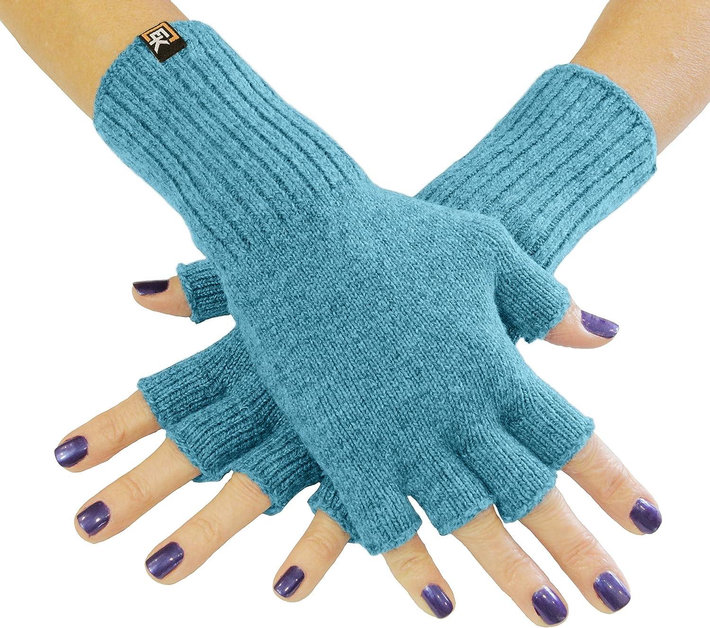 Knit Fingerless Gloves, Superfine Baby Alpaca, Women's