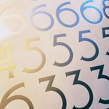Classic Style Die Cut Vinyl Numbers 3 inch, Metallic Copper