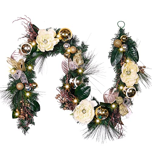 Christmas Garland With Lights Amazon Com