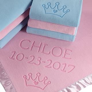 Custom Catch Princess Baby Blanket for Girls - Toddler Girl Crib Bedding, Receiving Blankets