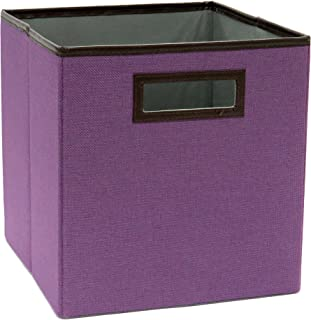 ClosetMaid 1130 Cubeicals Premium Fabric Drawer with Decorative Trim, Fresh Lilac Linen