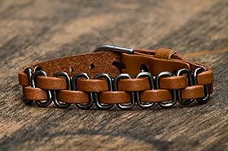 Leather Bracelet for Men Mens Biker Bracelets - Handmade Jewelry from Germany
