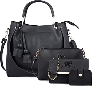 Speed X Fashion Women Black Hand Bag With Combo