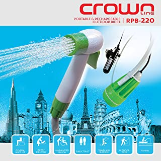 Crownline Portable and Rechargeable Outdoor Bidet, Apple Green, Rpb-220
