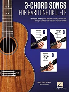 3-Chord Songs for Baritone Ukulele (G-C-D): Melody, Chords and Lyrics for D-G-B-E Tuning (English Edition)