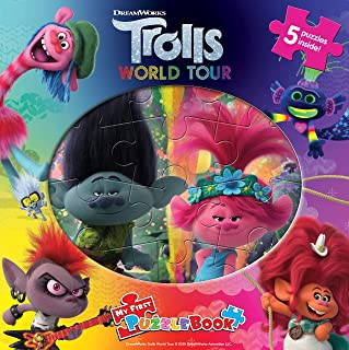 Phidal DreamWorks Trolls World Tour My First Puzzle Book, multicolor