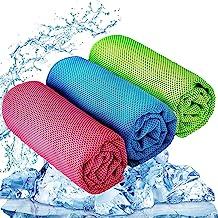 YQXCC Koelhanddoek 3 stuks 120 x 30 cm Microfiber handdoek voor onmiddellijke verkoeling, koele koude handdoek voor yoga G...