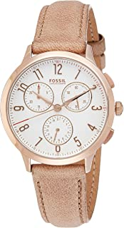 Fossil Women's CH3016 Abilene Chronograph Light Brown Leather Watch