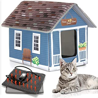 Cat Houses For Outdoor Cats - Heated Cat Bed - Heated Cat House - Outdoor Cat House