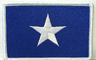 BONNIE BLUE FLAG PATCH TEXAS STAR SOUTHERN Iron On Patch White Border #09