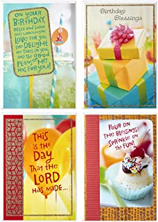 Dayspring Assorted Religious Birthday Cards (Christian Blessings, 12 Cards and Envelopes)