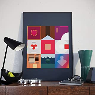 Kanye West Poster 'Minimalist Album Collage' (A2 size)