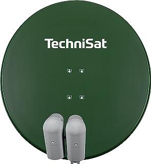 TechniSat GIGATENNE 850 – Digitale Sat Anlage für Eutelastrasat Mehrteilnehmerempfang (85 cm Sat Spiegel, Masthalterung, Multifeed, 2x UNYSAT Universal Quattro LNB im Wetterschutzgehäuse) grün