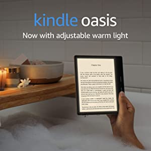 Kindle Oasis | Now with adjustable warm light | Waterproof, 8 GB, Wi-Fi | Graphite