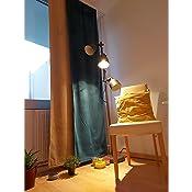 Gardinenbox 2er Set Fl/ächenvorh/änge Verdunkelung Schiebegardinen /»Milano/« Samt Blickdicht Blackout Alu Paneelw/ägen Beschwerungsstangen Taupe HxB 245x60 cm 203571-2-alu
