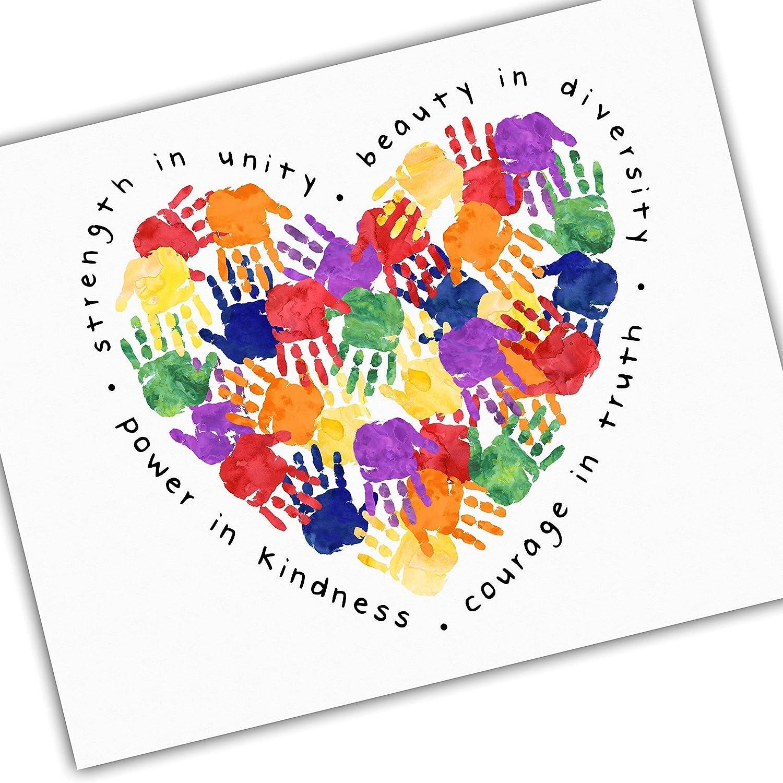 Inclusivity and Diversity service Art for Ranking TOP9 Kids Heart Handprints - Stre