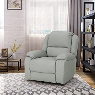 light gray leather recliner