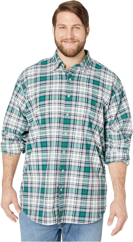 Polo Ralph Lauren Classic Fit Plaid Oxford Shirt, Men's Size- Large Tall, LT