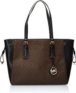حقيبة توت للنساء من مايكل كورس، لون بني/ اسود - 30F8GV6T8B
