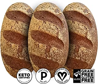 Yez! Artisan Keto Bread - Certified Keto, Paleo, Vegan - Low carb, Gluten free, Wheat free, Grain free, Soy free, All Natural, Clean Ketogenenic Food (small loaf - 10 oz each)