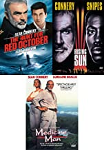 Majestical SEAN CONNERY Triple Feature: The Hunt For Red October/ Rising Sun/ Medicine Man (DVD 3 Pack)
