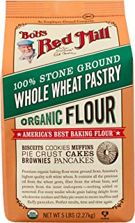 Bob's Red Mill, Organic Pastry Flour, Whole Wheat, 5 Pound