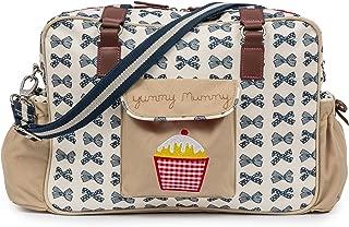 Pink Lining Baby Diaper Bag, Yummy Mummy (Navy Bows)