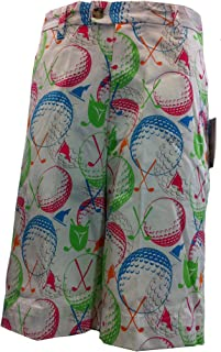 Shorts Balls Clubs Lime Green Hot Pink Turquoise 95% Poly 5% Spandex Adult