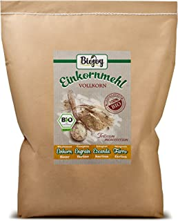 Biojoy BIO-Einkorn-mehl Urgetreide Vollkornmehl Triticum monococcum 5 kg