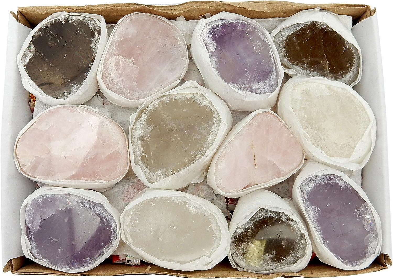 Seer Stones Ema Egg Amethyst Crystal Super beauty product restock quality top Quartz B Smokey Las Vegas Mall Rose