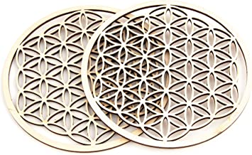 D/écoration de Table D/écoration Fleur de Vie en Bois /Ø 20 cm /Épic/éa de qualit/é sup/érieure 100/% /émotion Symbole de Vie Cadeau /ésot/érique
