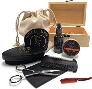 Beard Grooming Kit For Men: Premium Men's Set For Your Special Man, Achieve A Healthy Fuller Beard Achieving The Look You Desire With Soft Controlled Facial Hair. Real Men With Real Beards. (BlackKit)