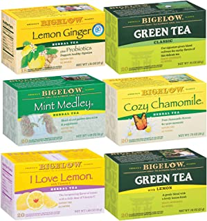 Bigelow Cold and Flu Variety pack of Tea Bags (Pack of 6), 118 Tea Bags Total