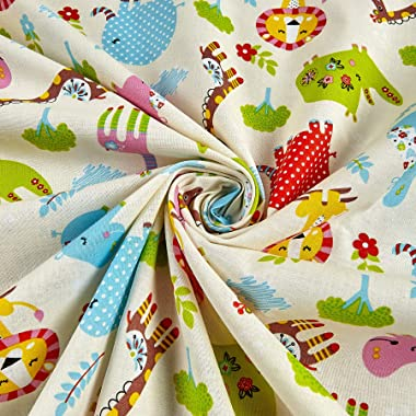 Kid's Choice Animals Allover Yellow, Quilting Fabric by the Yard