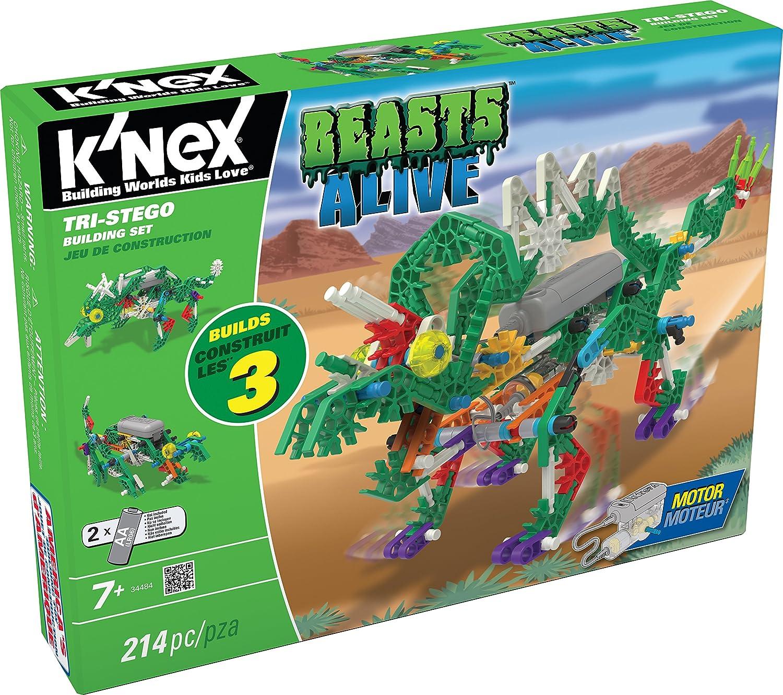 K'NEX 33481 - Beasts Alive - Tri-Stego Building Set - 214 Pieces - 7+ - Bau- und Konstruktionsspielzeug