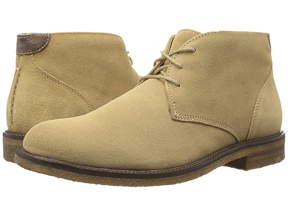 Johnston & Murphy Copeland Casual Chukka Boot (Taupe Water Resistant Suede) Men