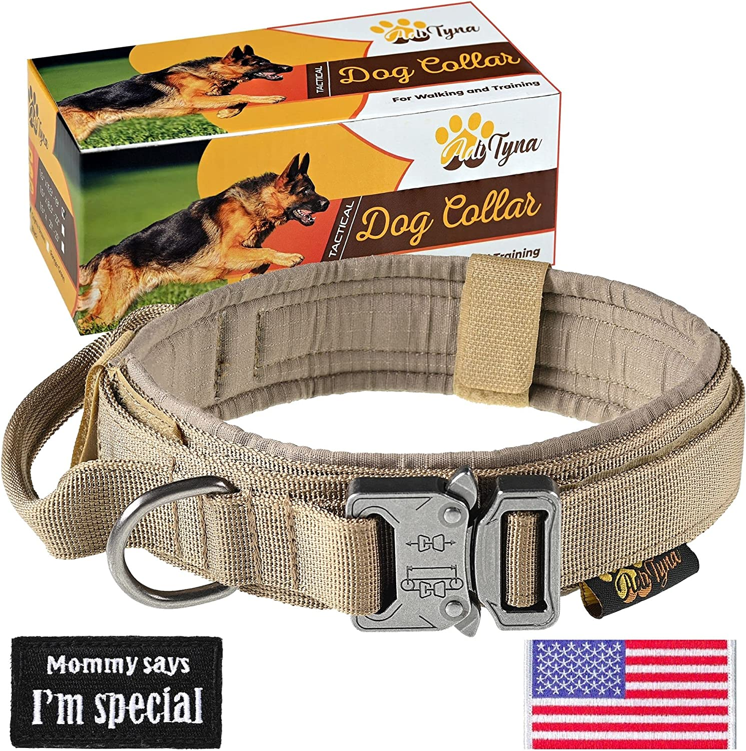 Sale SALE% OFF Clearance SALE Limited time Tactical Dog Collar – Heavy Duty for Dogs Large