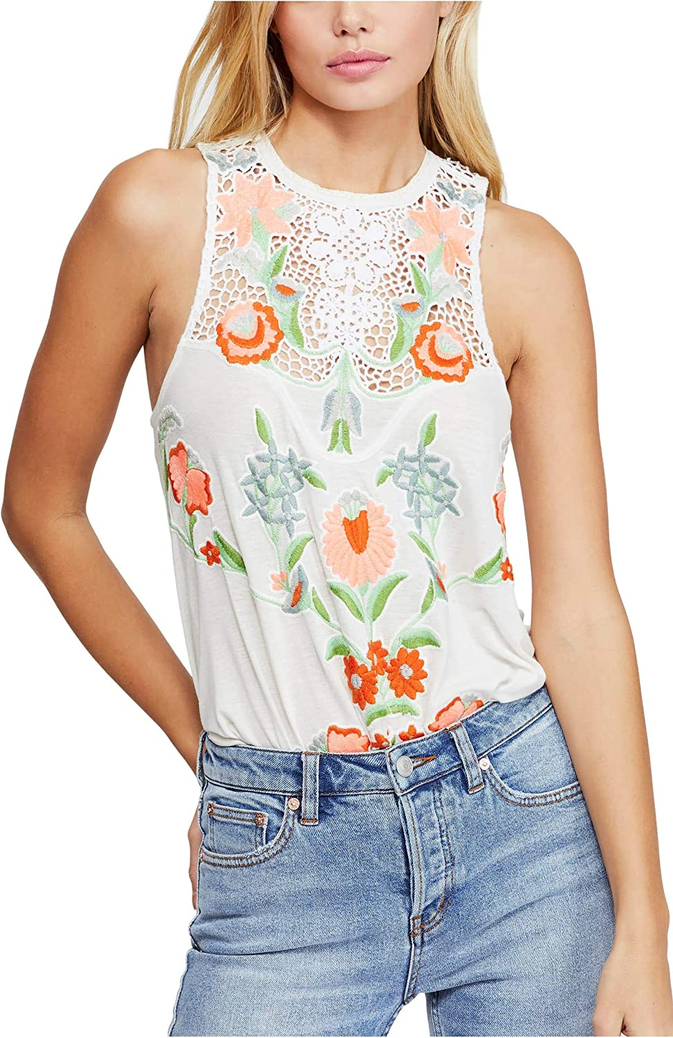 Free People Flower specialty shop Power Great interest Combo TOP Ivory