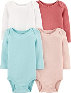Unisex-Baby 4-Pack Long Sleeve Bodysuits