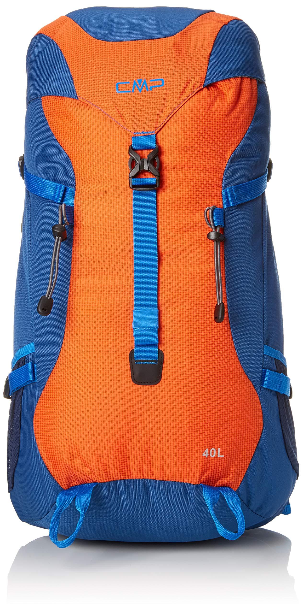 CMP Unisex Adult Caponord Backpack 40L Rucksack, Marine-Orange, U