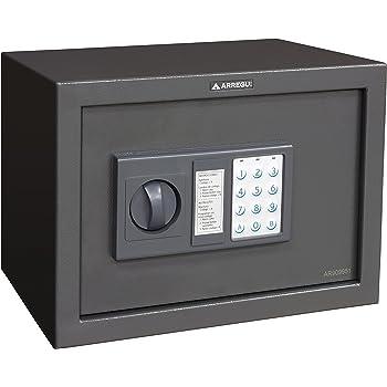 Arregui Class T35EB - Caja fuerte de sobreponer electrónica, para portátil (acero, 430 x 200 x 350 mm) color gris oscuro: Amazon.es: Bricolaje y herramientas
