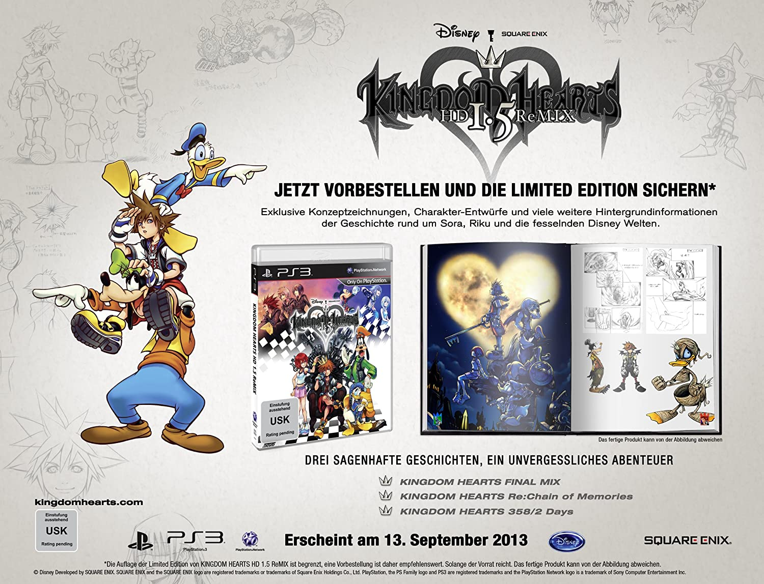 Kingdom Hearts Hd 1 5 Remix Playstation 3 Amazon De Games