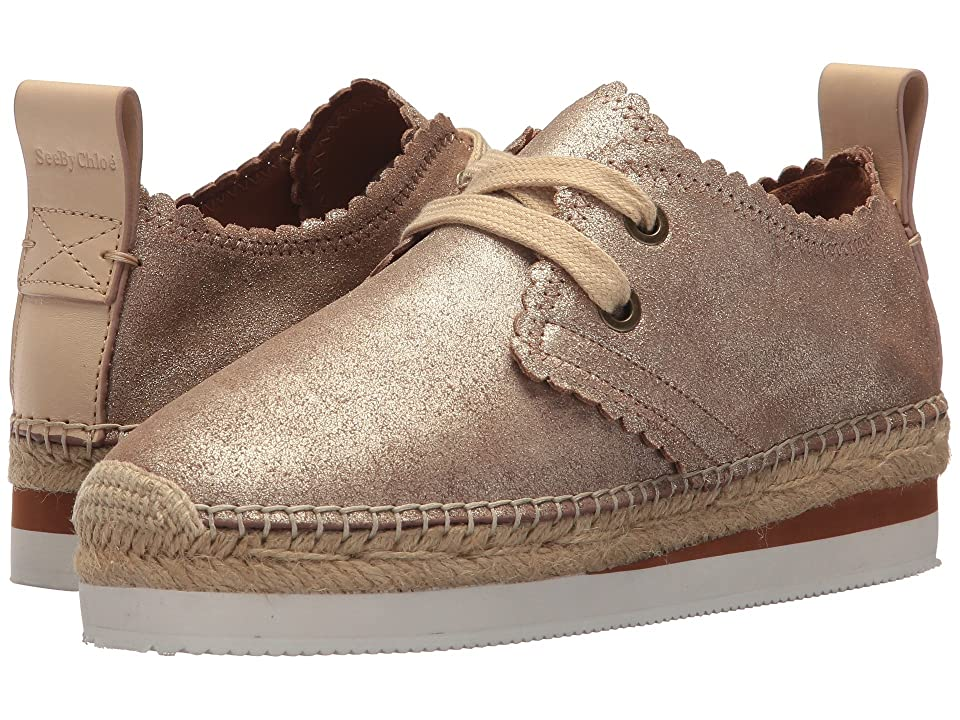 See by Chloe SB30222 (Gold) Women's Lace up casual Shoes