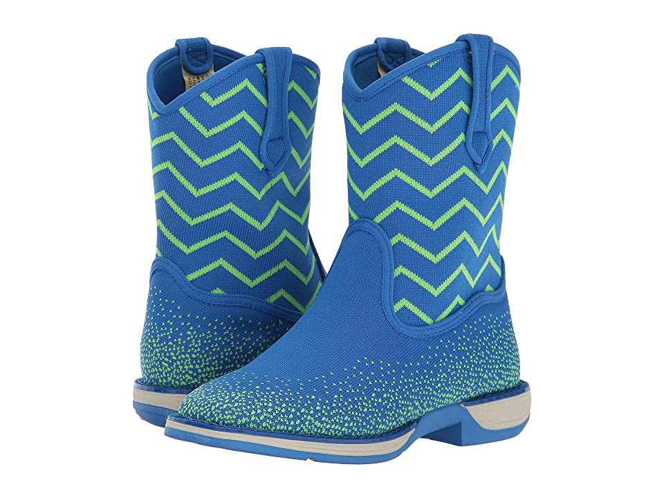 Laredo Kids Ziggy (Toddler/Little Kid/Big Kid) (Green/Blue) Cowboy Boots