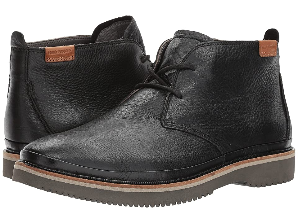 Hush Puppies Fredd Bernard (Black Leather) Men