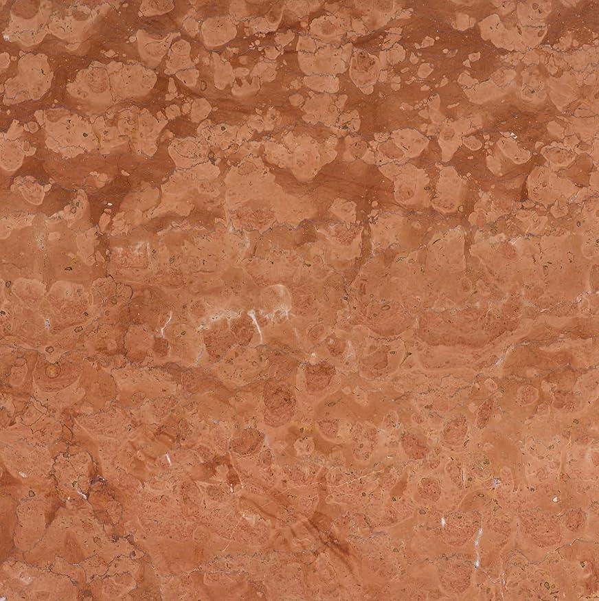 大脳混沌オーナーイタリアの天然大理石 ロッソマニヤボスキ 本磨き 40cmX40cmX1,3cm 5.5㎏