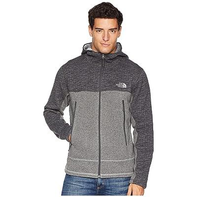 The North Face GL Alpine Full Zip Hoodie (Asphalt Grey Sweater Texture Print/Monument Grey Sweater Texture) Men