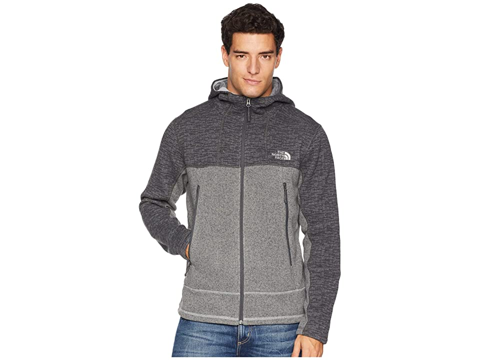 The North Face GL Alpine Full Zip Hoodie (Asphalt Grey Sweater Texture Print/Monument Grey Sweater Texture) Men